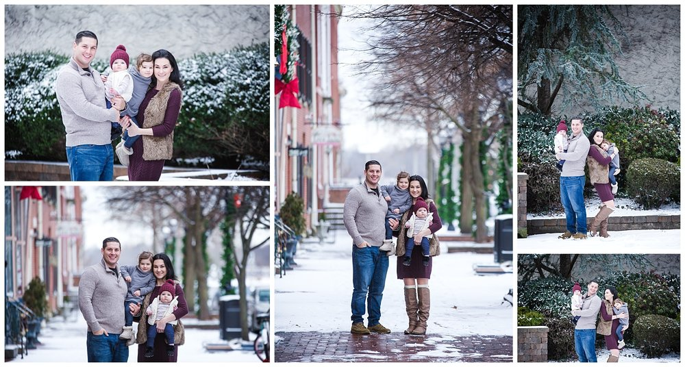 Family session in burlington new jersey photo studio