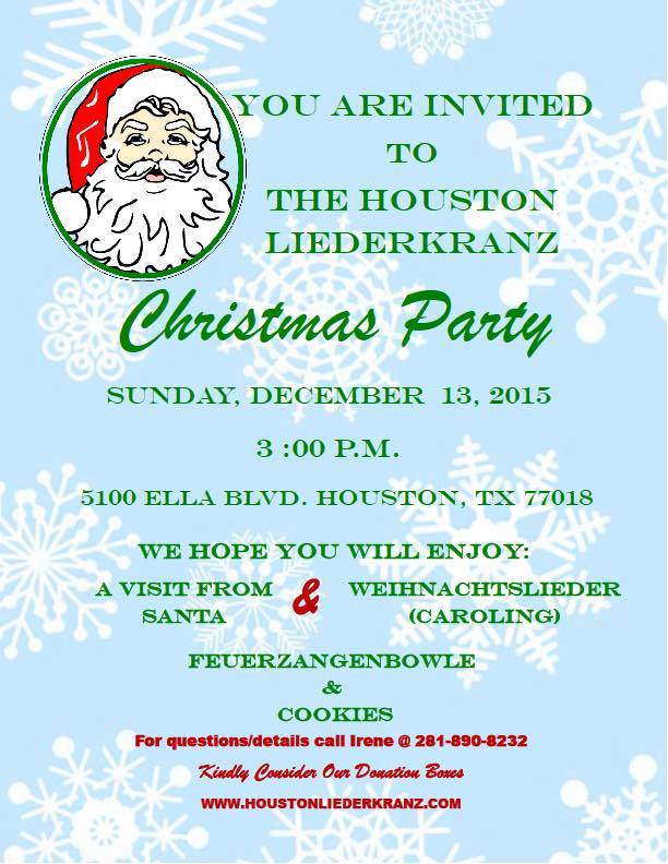 christmas party 2015 - Christmas In Houston 2015