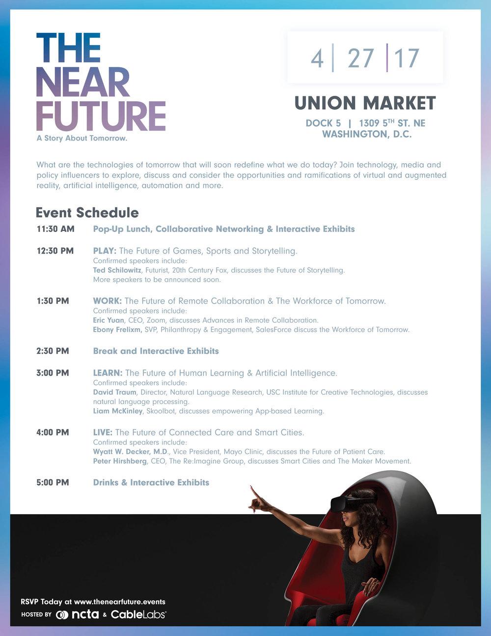 The Near Future Conference Downloadable Agenda NCTA 2017