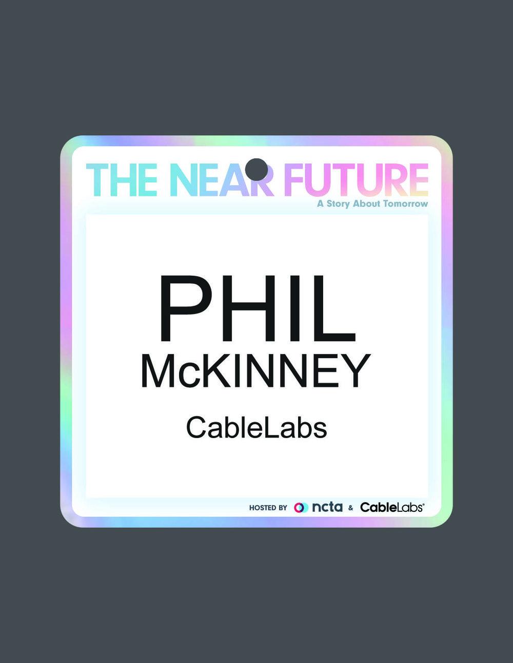 The Near Future Conference *FOIL*Badge Design NCTA 2107