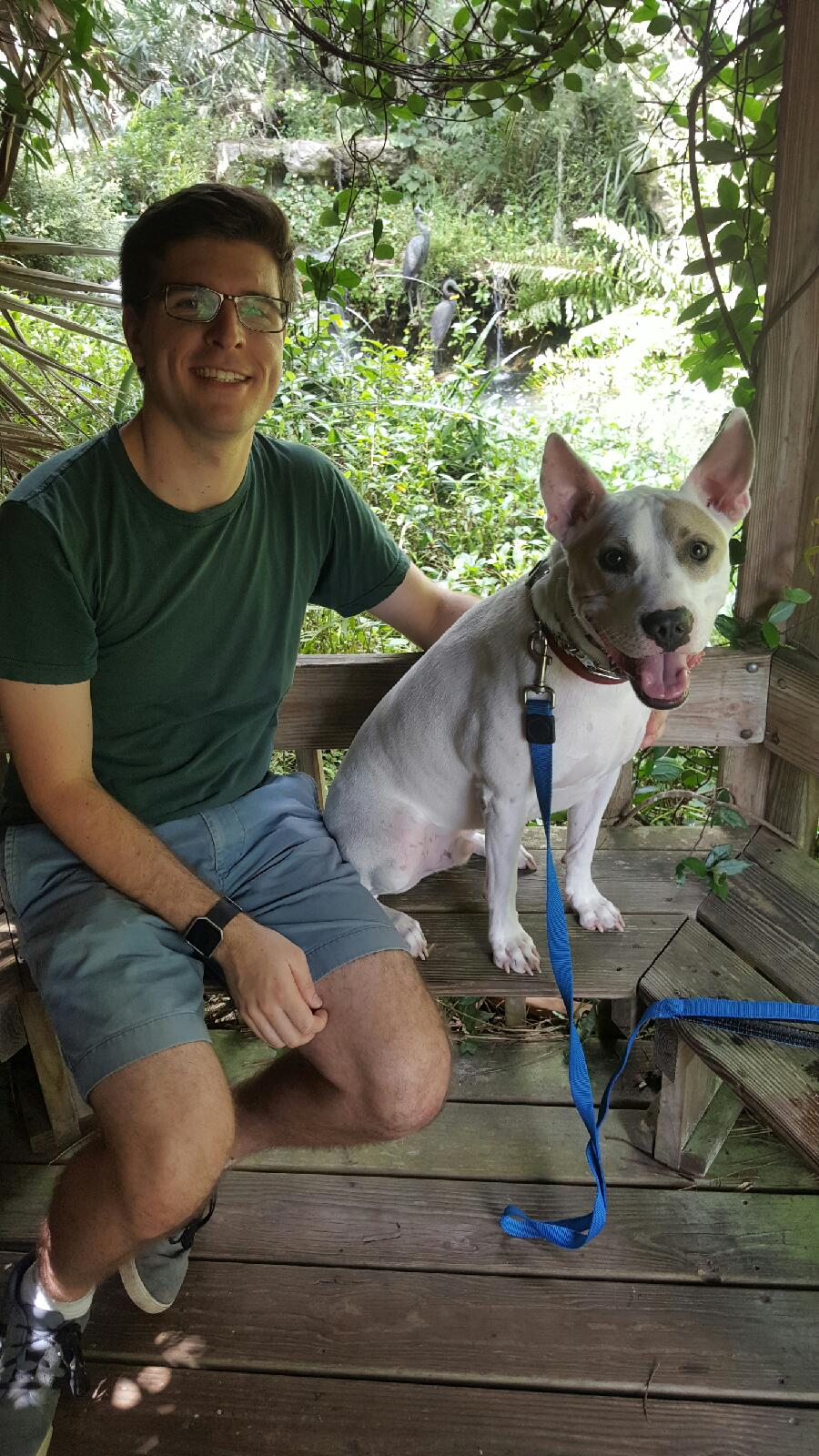 With Bradley at Kanapaha Botanical Gardens, Gainesville, Florida