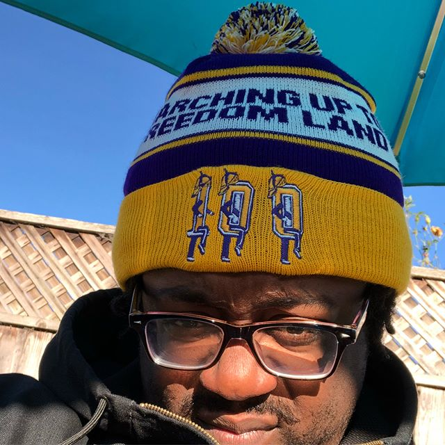 The good brotheren @africanjewelarts_7 came through for the 🔥 bday gift. Hardly home but always reppin @staugnola . #PurpleKnightsInTheBay #marching100alumni @staugnola