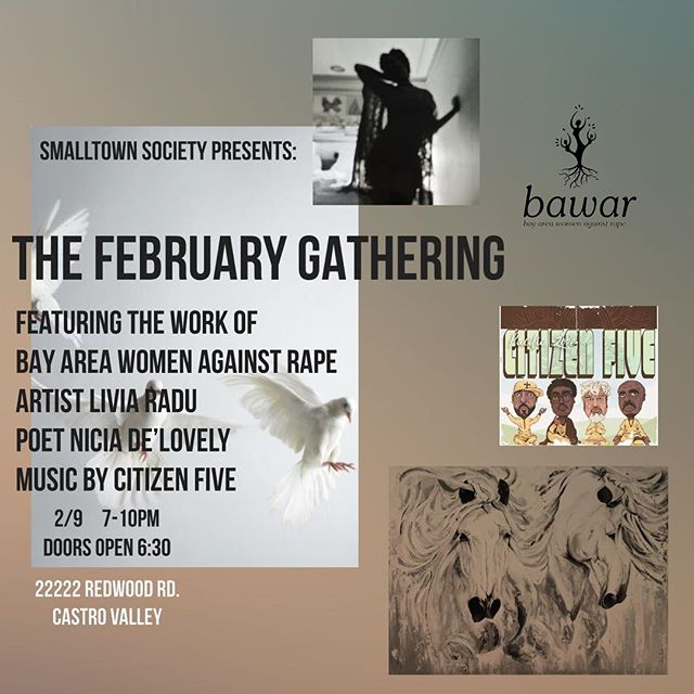 Catch me and my @citizenfivemusic fam this Friday in Castro Valley at @smalltownsociety w/ @niciadelovely and a host of other dope Bay Area artistic talent. Free and open to all ages. Child care provided. Event link with more info in the @citizenfivemusic bio.