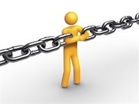 Person as link in a chain