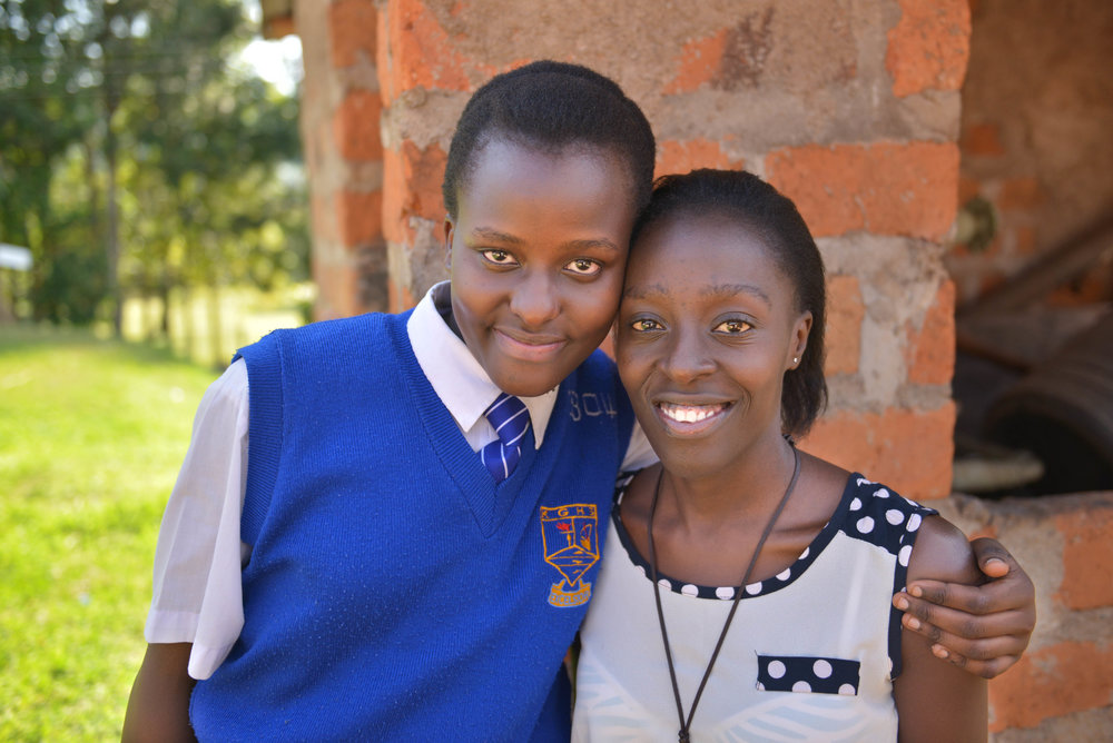 Joyce, an Ajiri sponsored student with her sister, Fanisha. Fanisha was an Ajiri student and is now in medical school.