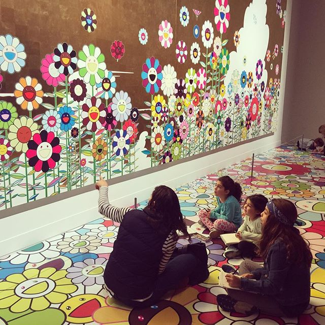#mfaboston #murakami @the mfa boston checking out Murakami's exhibit.
