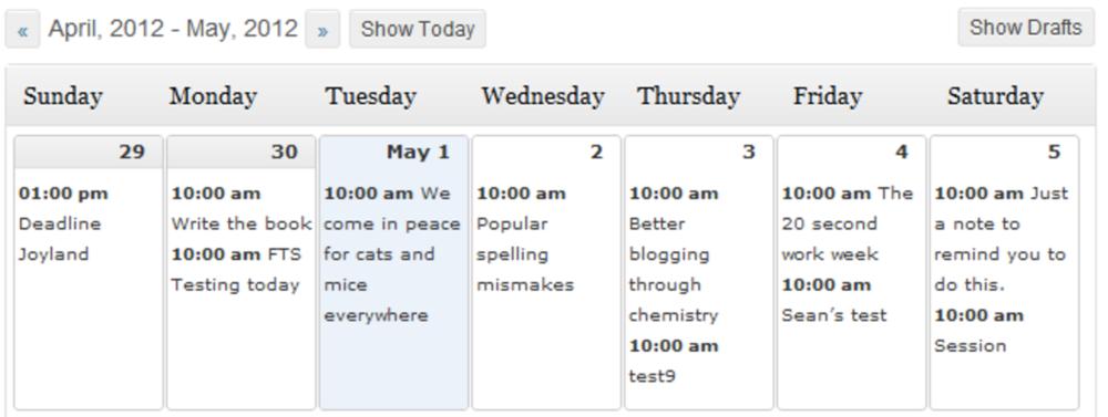 Screenshot   via Editorial Calendar