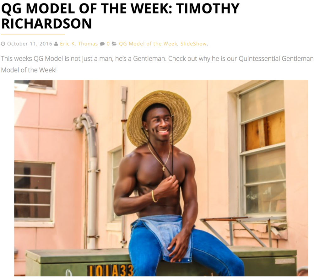 Quintessential Gentlemen: Model of the Week