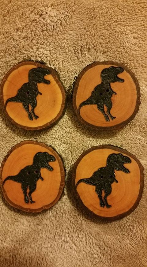 Kristi's T-Rex buttons from A Sheep in the Woods