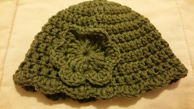 Kristi's newborn hat for donation