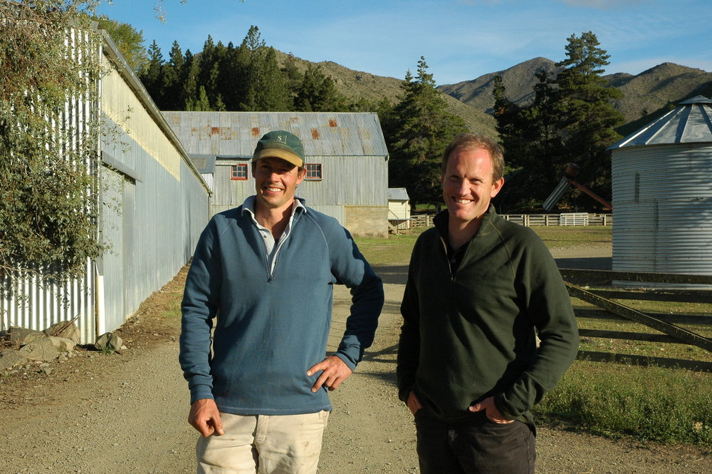 Andy with Ben Innes at Black Forest Station, New Zealand