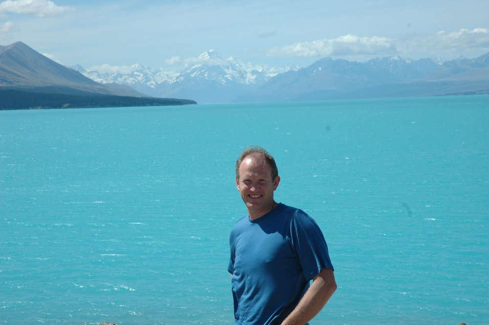 Andy hiking Mount Cook National Park