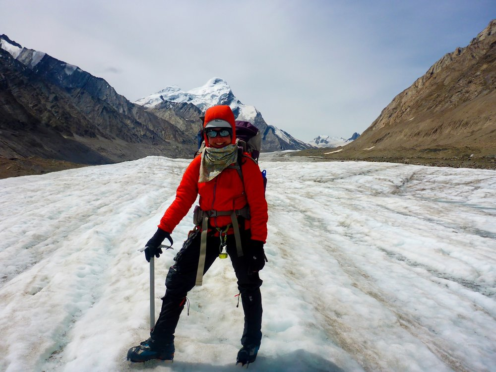 Adelaide on the Durang Durung Glacier with British Exploring Society, Ladakh, India