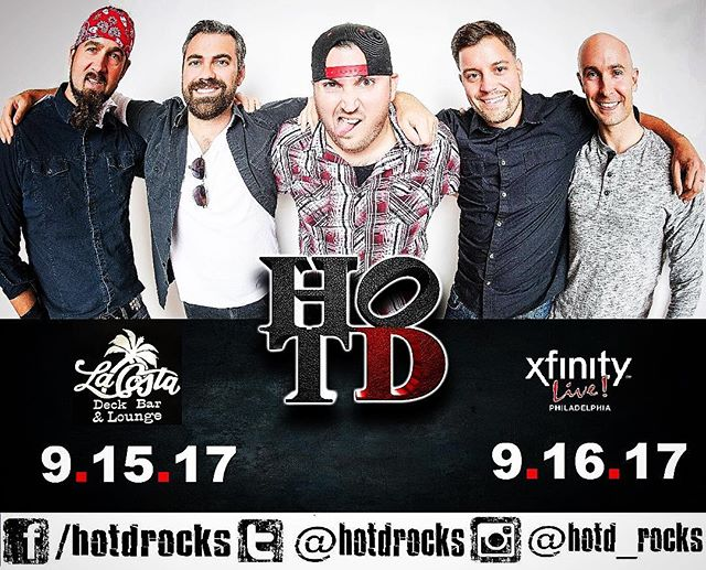 """Nope...Nah...NO!  Summer shall not die on our watch!  We keep the vibe alive this weekend!  Come play with us.  Friday - @lacosta_sic  Saturday - @xfinitylive_xl  For FREE ENTRY to @victorybeerhall on Saturday, text keyword """"Hot D"""" to 215-251-4871. HURRY UP THO, because that offer ends at Midnight on Friday!  #hotd #hotdrocks #coverband #liveband #livemusic #hiphop #rocknroll #top40 #dance #party #danceparty #summerisstillhere #summervibes #weekend"""