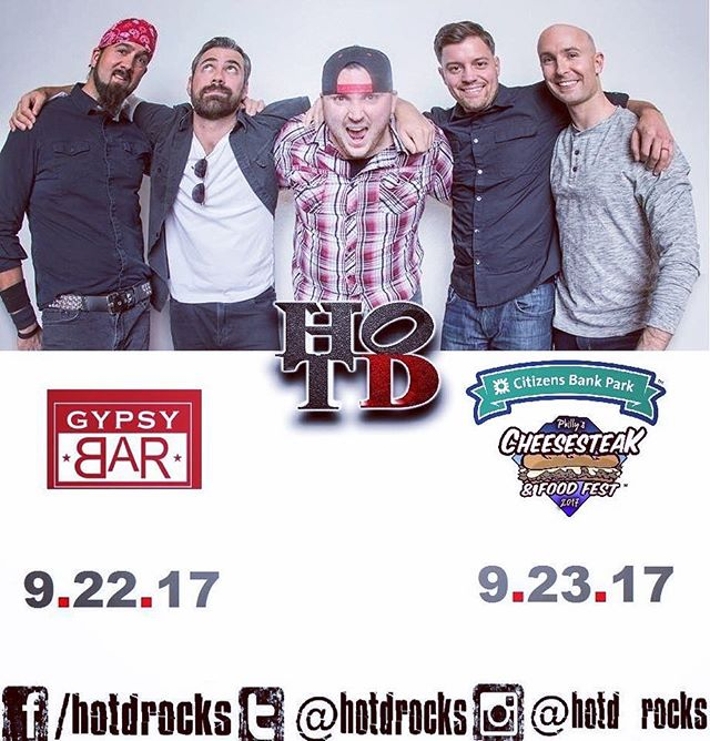 Another Big Weekend on Deck in HOTD World!  Check it:  Friday - #GypsyBar at @borgataac (11pm)  Saturday - The 2017 Philly Cheesesteak Festival at @citizensbankpark (1pm)  Hit us up for discounted tickets to the Cheesesteak Festival 😎🤘 BOOM!  #hotd #hotdrocks #liveband #livemusic #coverband #borgata #gypsybar #ac #atlanticcity #doac #doacnightlife #borgatanightlife #cheesesteakfestival #philly #citizensbankpark #cbp