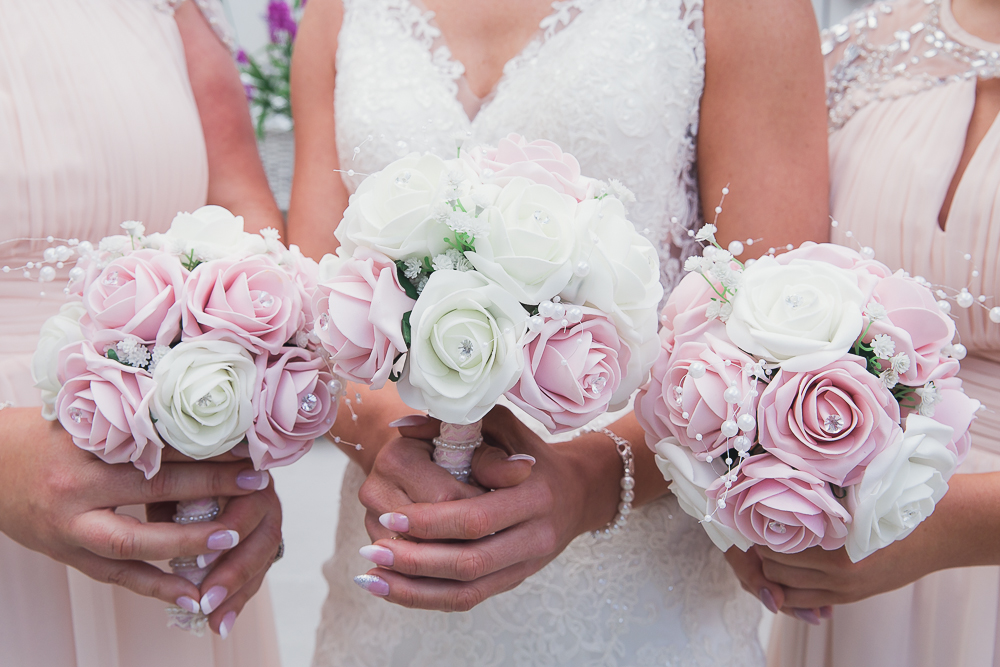 Pink Flower Wedding Bouquets