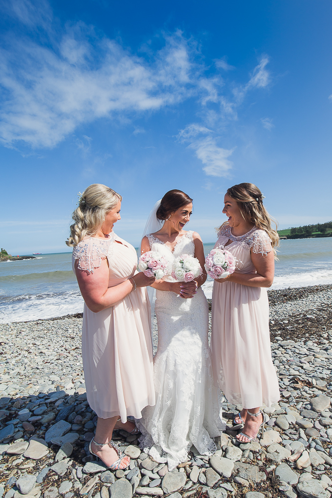 Amazing bride on a beach. Fountainstown Beach Co Cork