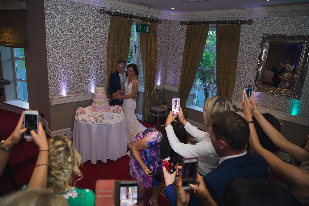 Vienna Woods Hotel Glanmire Co Cork. Cutting the cake