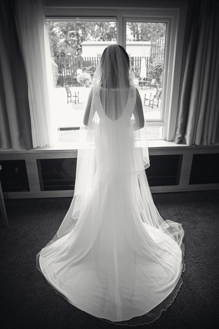 Michelle & David Radisson Blu Hotel & Spa Limerick. bride spending moment alone