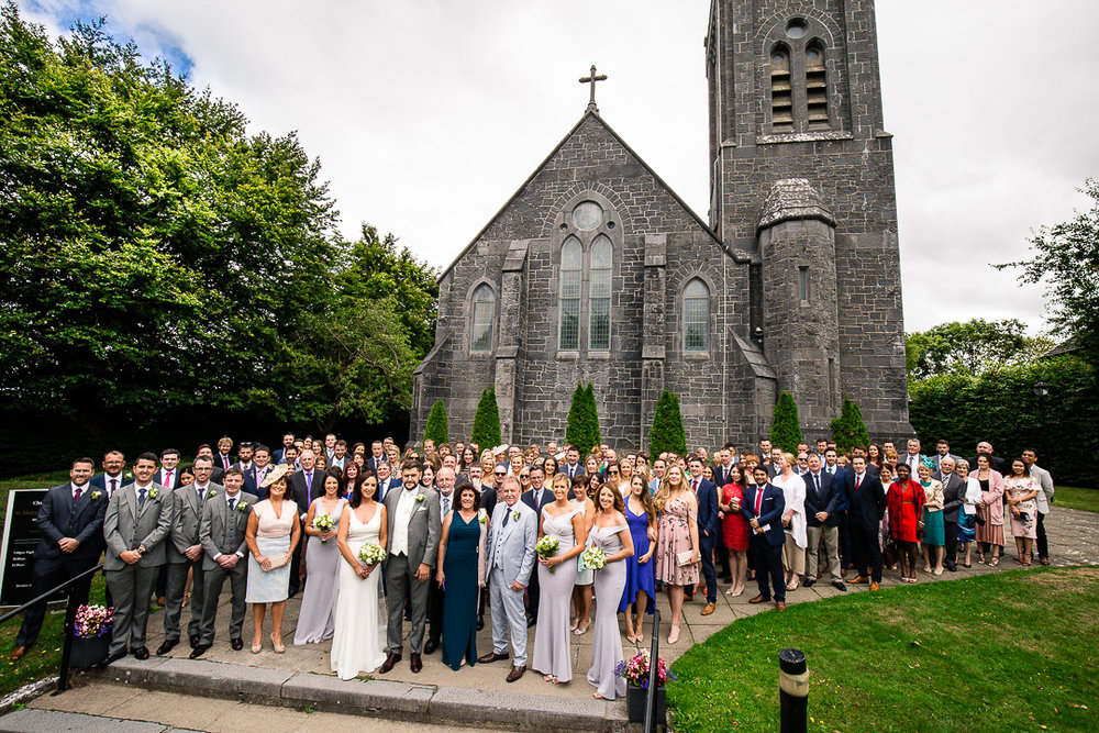 Monaleen Church Wedding Limerick. Group shot