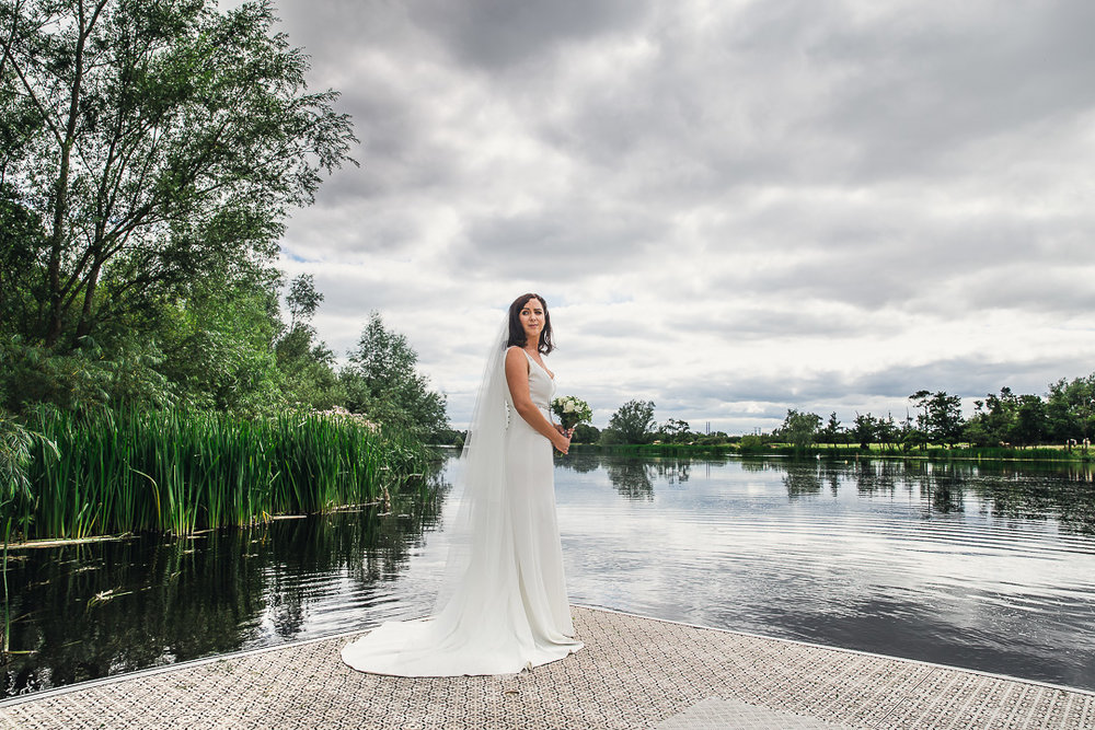 Michelle & David Photos taken at the boat house University Limerick. Flower Bouquet & bride