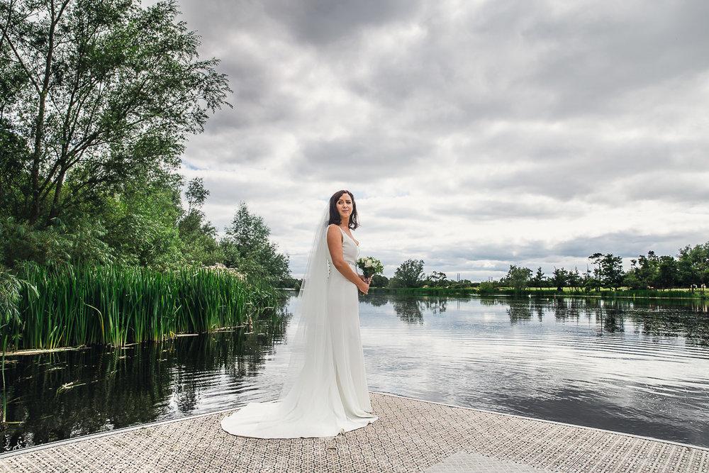 Michelle & David Photos taken at the boat house University Limerick. Flower Bouquet & bride