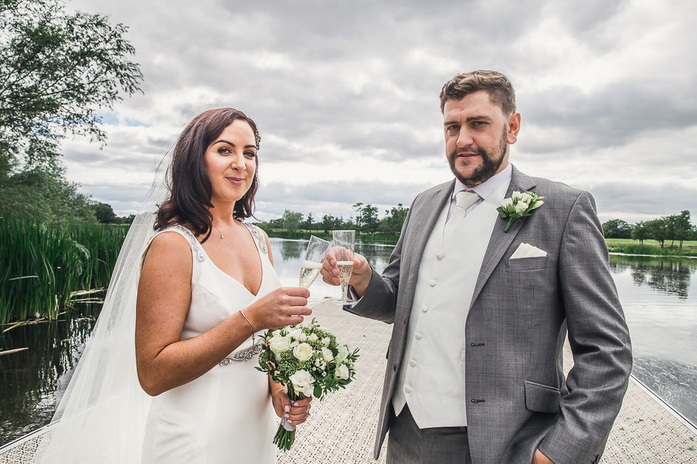 Michelle & David Photos taken at the boat house University Limerick. Bride & Groom