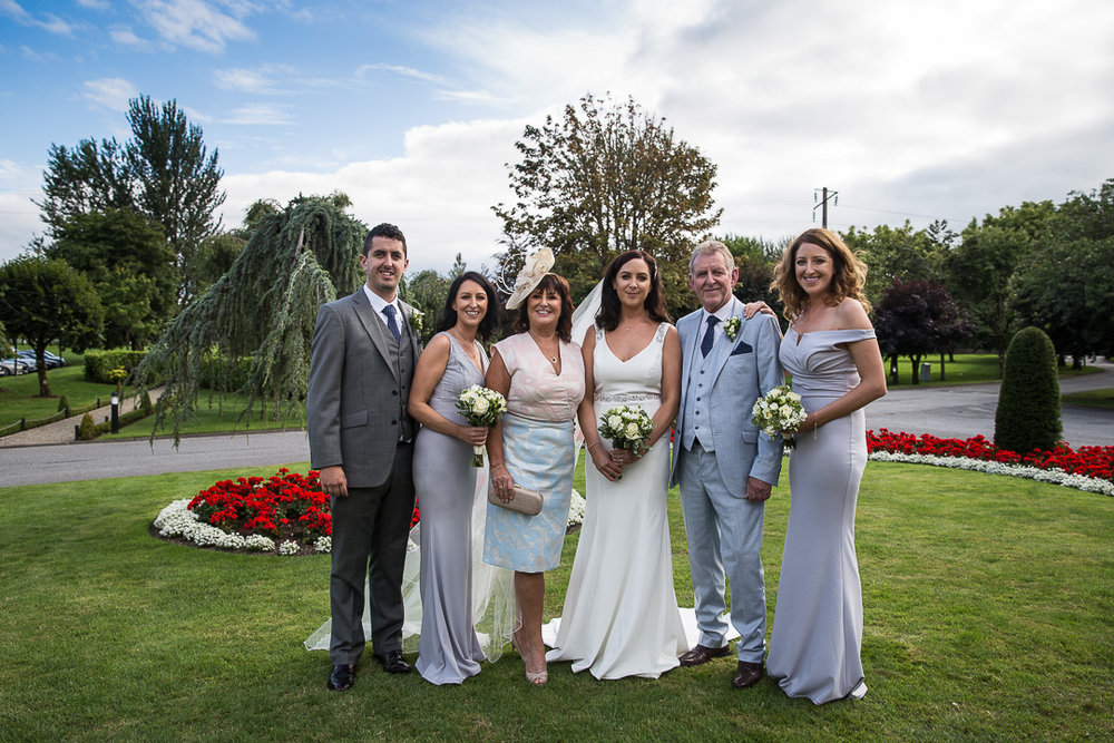 Michelle & David Radisson Blu hotel & Spa Limerick Wedding reception 4.8.2018. All the ladies together.