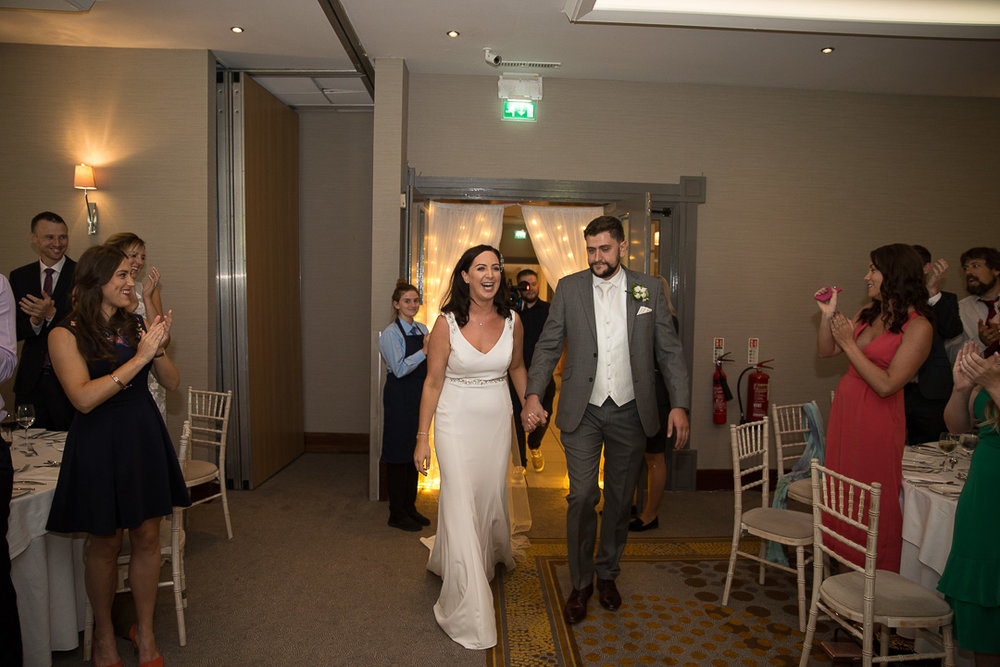 Michelle & David Radisson Blu hotel & Spa Limerick Wedding reception 4.8.2018. The dinner entrance.