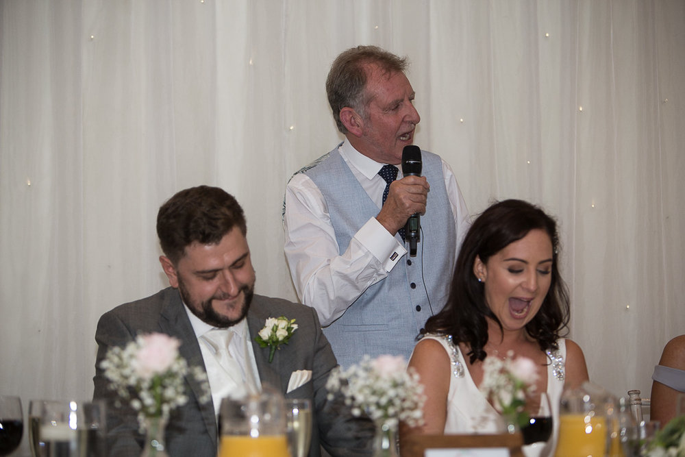 Michelle & David Radisson Blu hotel & Spa Limerick Wedding reception 4.8.2018. The speeches.