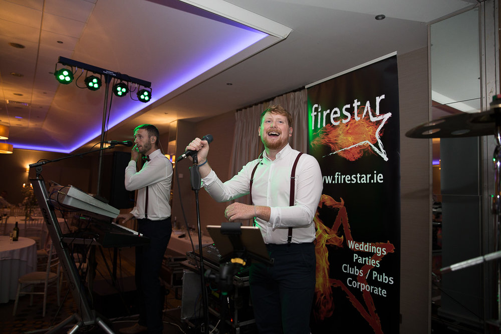 Michelle & David Radisson Blu hotel & Spa Limerick Wedding reception 4.8.2018. The first dance as husband and wife with Firestar Wedding Band