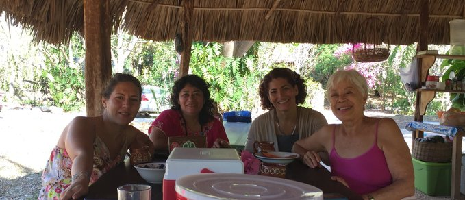 Women gathering and enjoying each others company in sunny Yucatan.