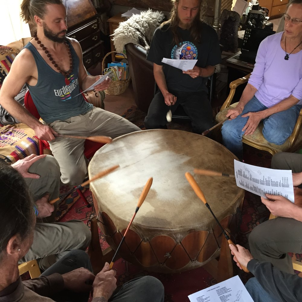 Typically men would sing at the drum while women sing higher and behind the men joining in on the third verse but sometimes women drum in practicing for ceremonies. Some Women's Drum Groups are emerging as we work towards  maintaining a balance on our Mother Earth at this time.