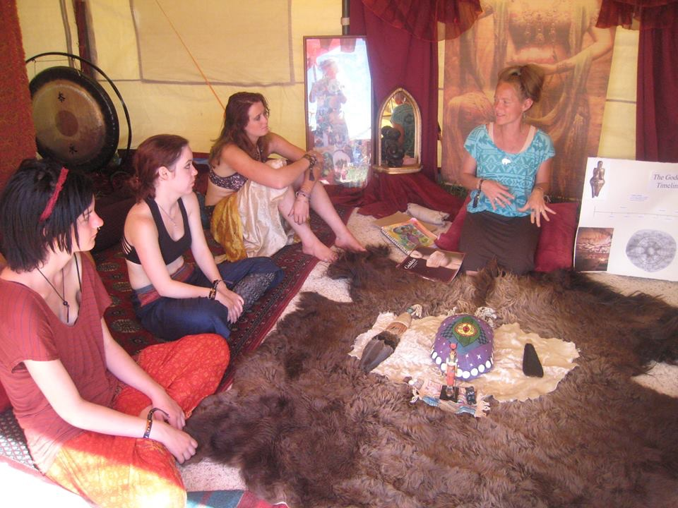 Andrea offers a workshop on Moontime Teachings at Arise Festival, 2016