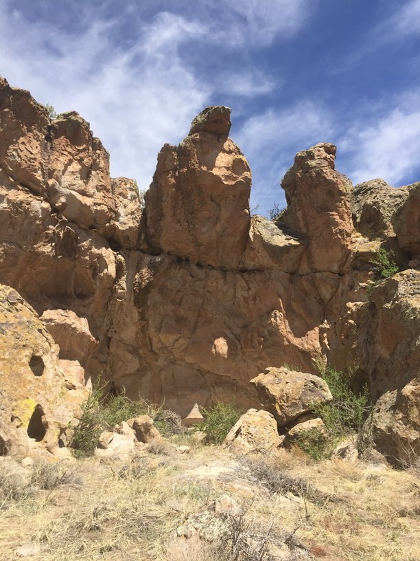 Rock Formations containing ancient petroglyphs in the San Luis Valley near Monte Vista, Colorado.