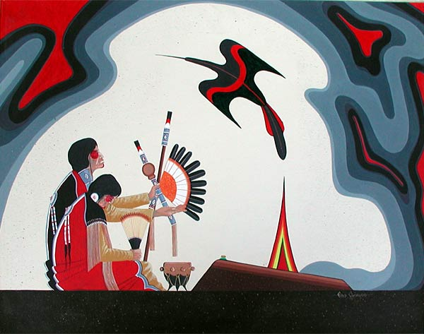 Native American Church artwork by Fred Cleveland.