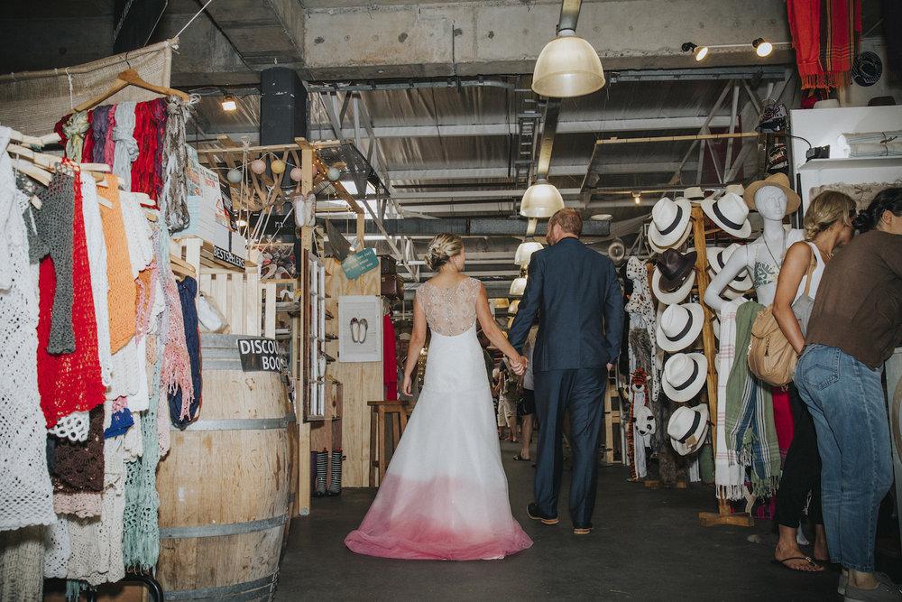 Market-theme wedding