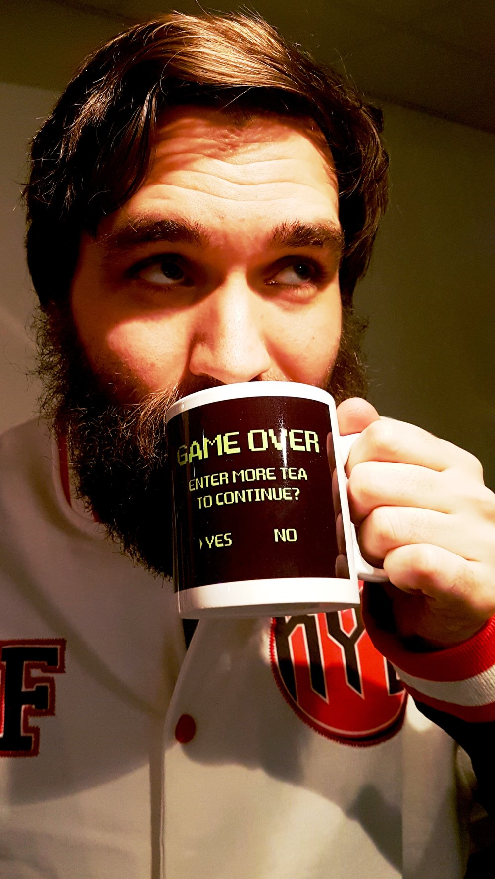 George, seen here modelling a highly desirable mug (and beard).