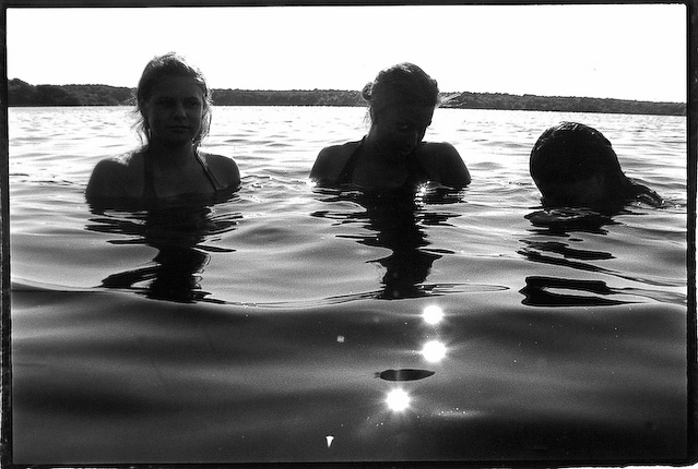 Three Girls Swimming