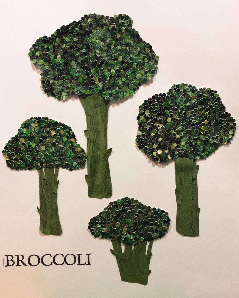 """Commissioned Fruits & Veggies, 11""""x14"""", Paper, Gouache, Gel Medium (2018)"""