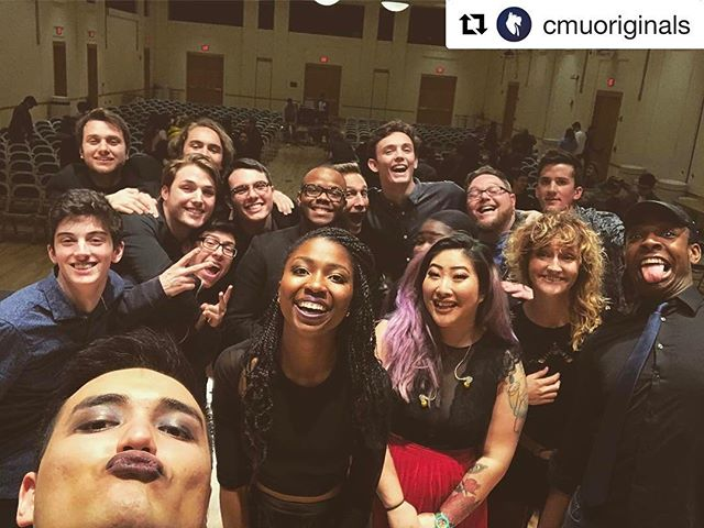 We had a great time with our friends from the @cmuoriginals tonight at #carnegiemellon !! They were gracious hosts and wonderful humans. En route to Orwigsburg! #pennsylvania #acappella #acapella #mixvocalgroup #cmuoriginals #patakeovertour