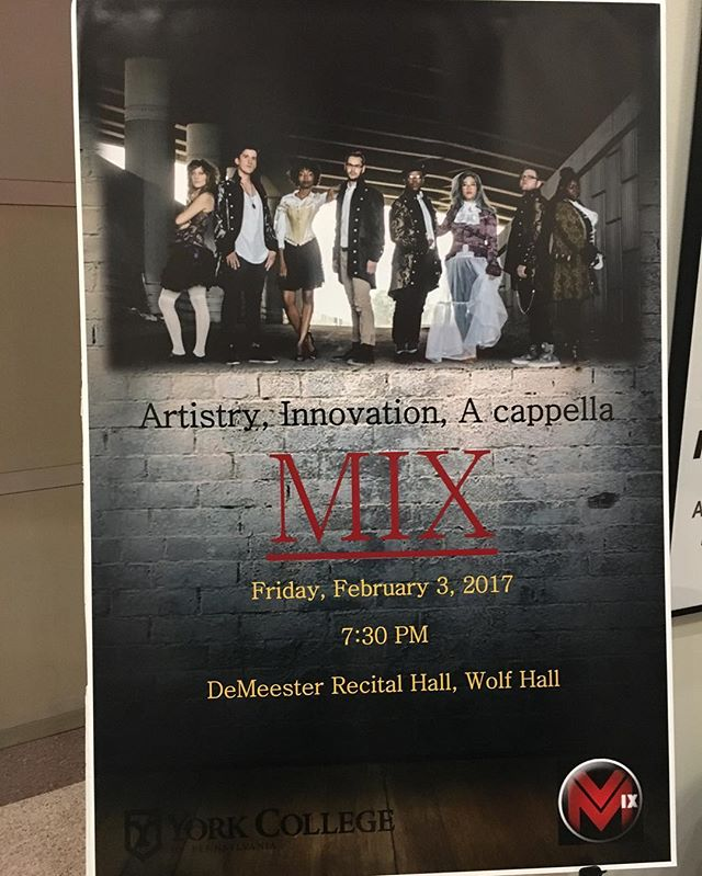 Excited to be playing at York College tomorrow! #mixvocalgroup #acappella #acapella #patakeovertour