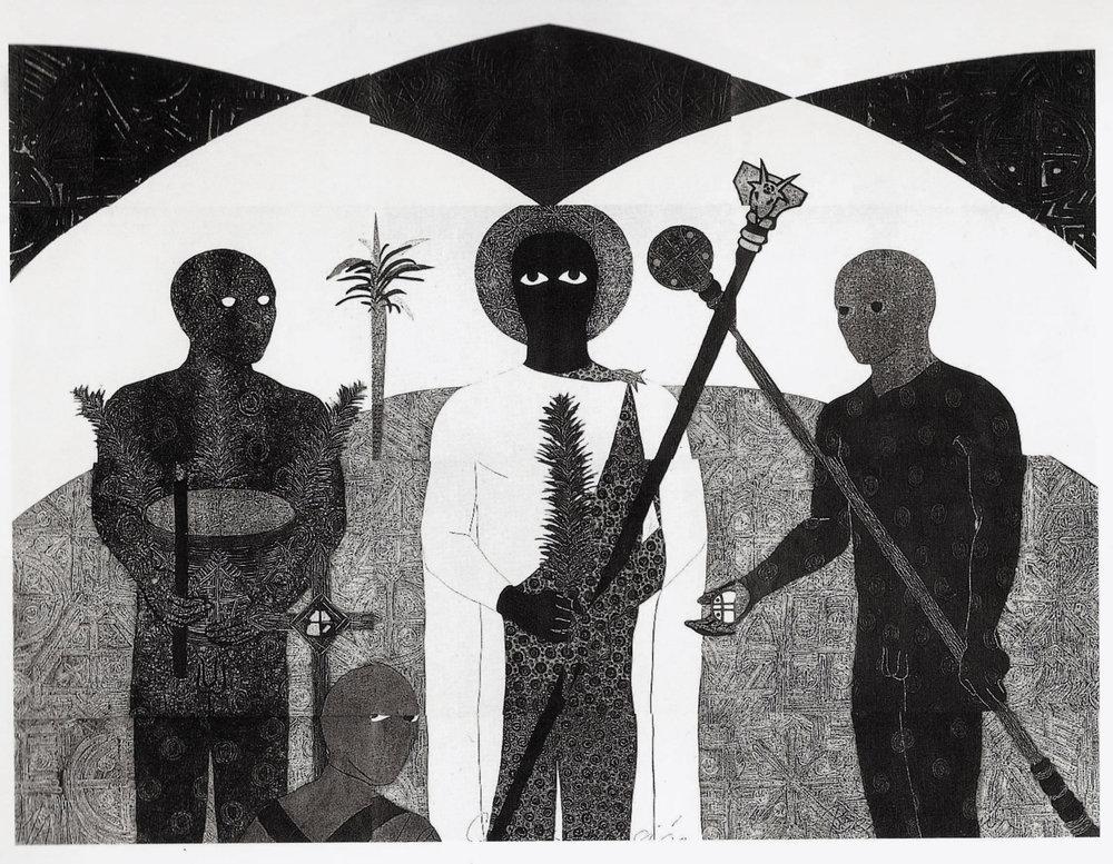 "Selection from ""Nkame,"" the Belkis Ayón retrospective at El Museo del Barrio"