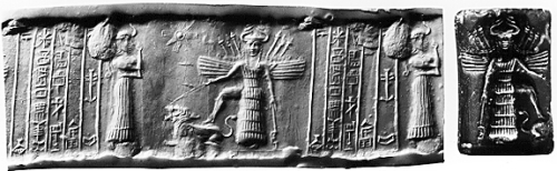 The goddess Inanna. Image via  Brooklyn Museum