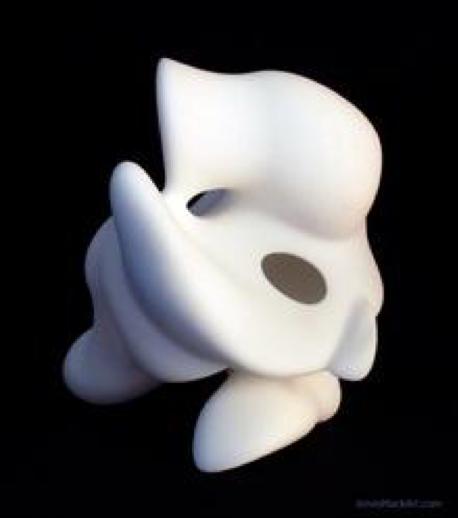 Finned Blob Carl - Laser sintered nylon 3D print