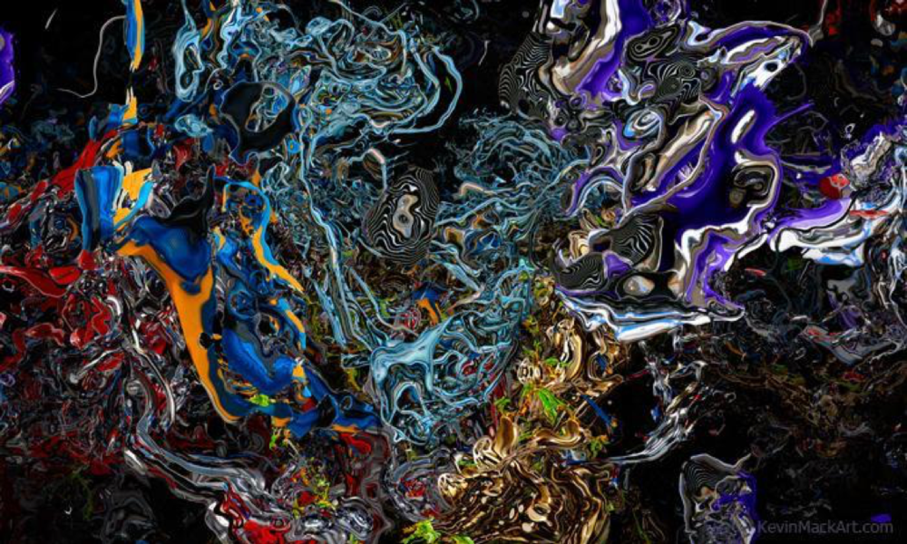 """""""God And The Devil Argue Over The Details"""" 36""""x60"""" Giclee canvas print"""