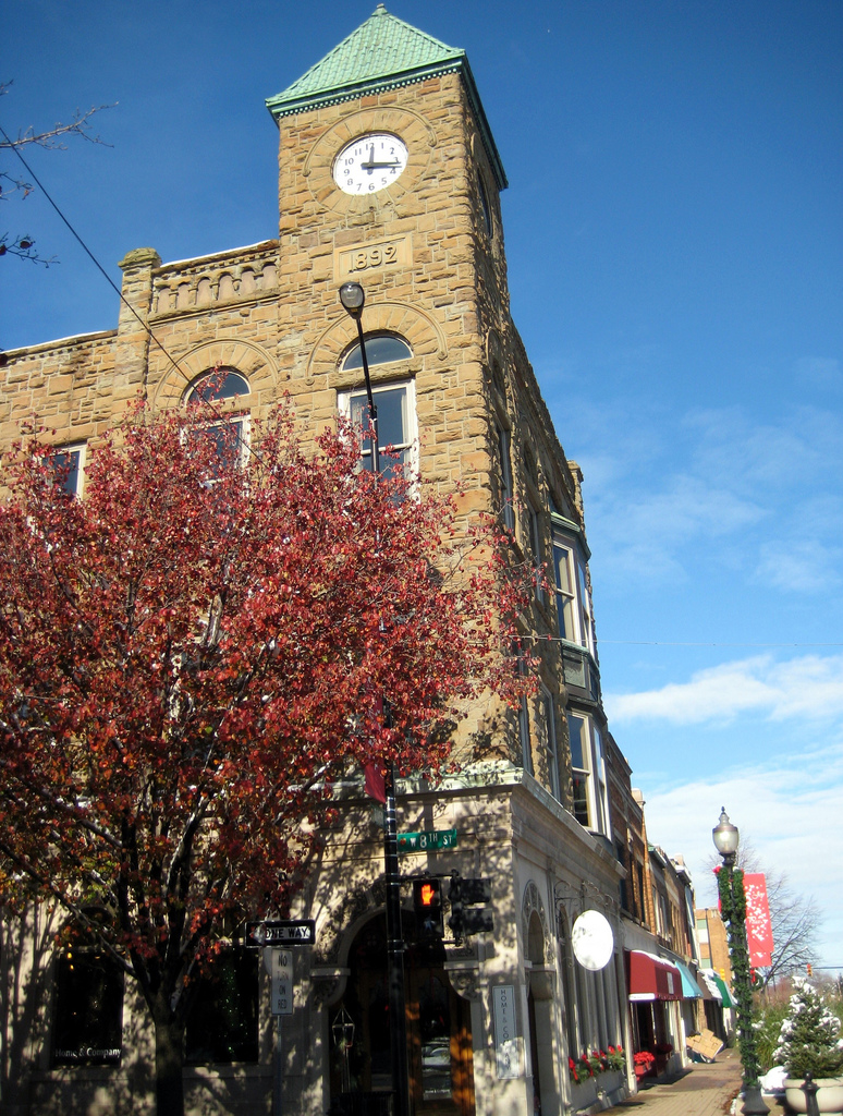 HOME & COMPANY  is located in the Tower Clock building in downtown Holland, Michigan.