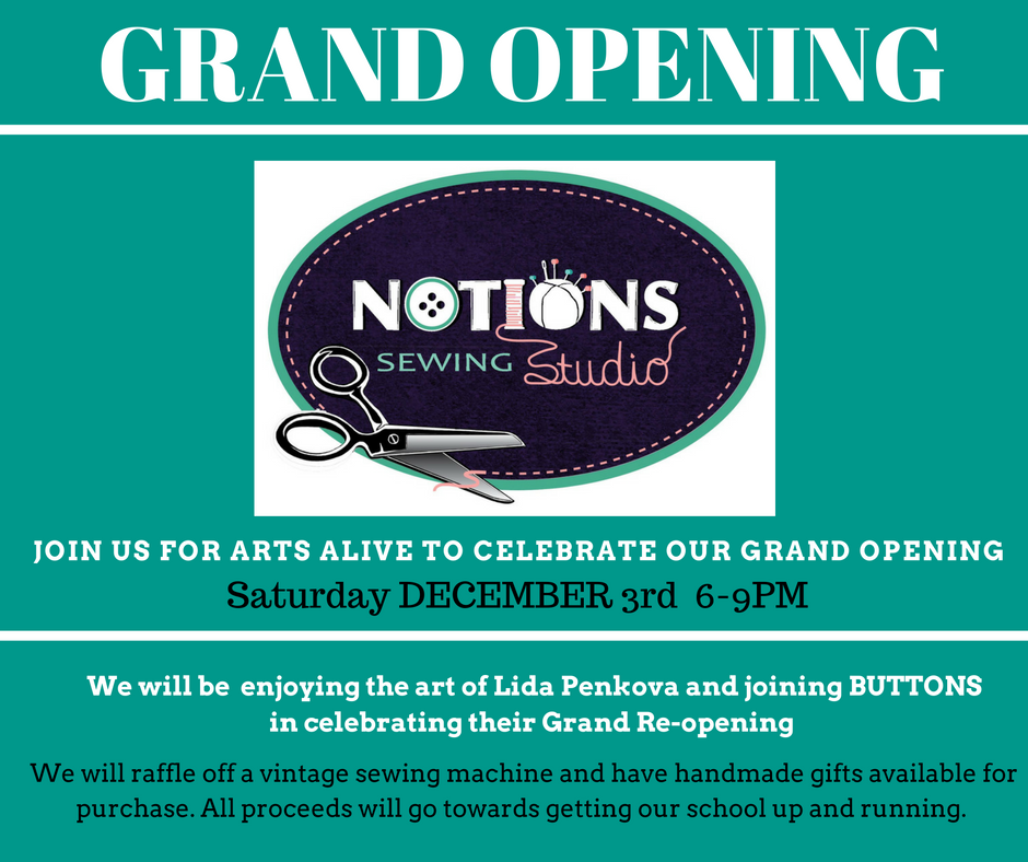 Notions grand opening
