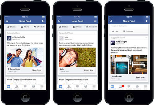 Facebook app design lessen