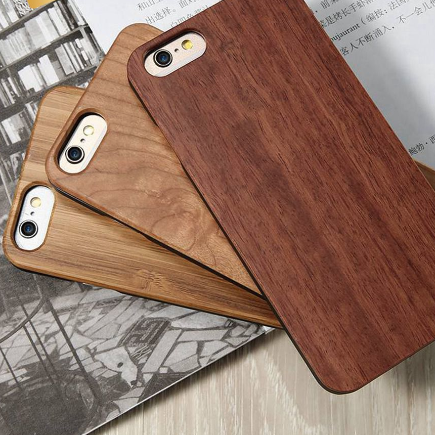 Goedkope houten iPhone hoesje